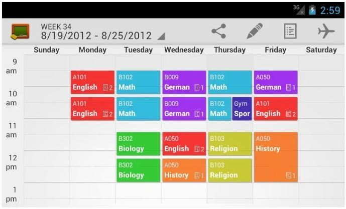 Apps for College Students - Myclass schedule